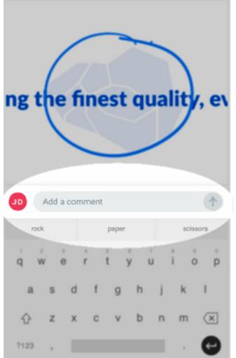 CommentToolbarHighlightedKeyboard.png